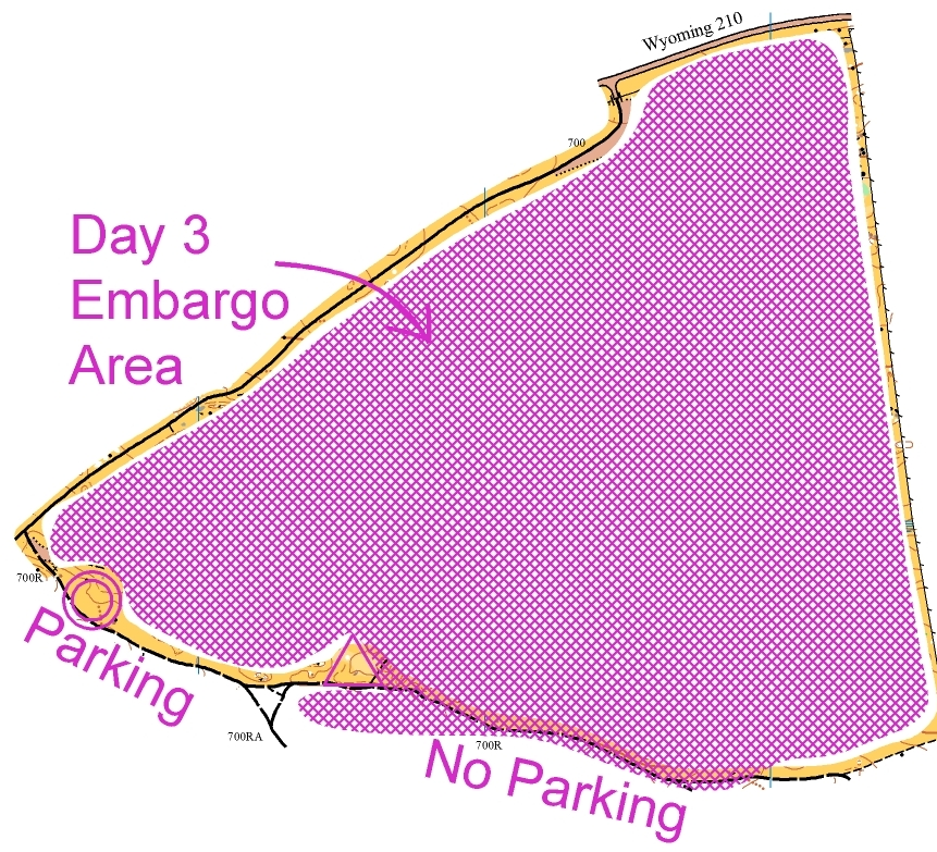 Map of embargoed area.